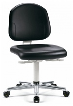 BIMOS - 9181-2571 - Cleanroom work chair Plus 2 with castors, backrest height 380 mm, WL35445