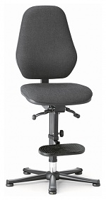 BIMOS - 9159E-9801 - ESD chair BASIC 3, glider/access aid, synchronous technology and weight regulation, fabric Duotec black, backrest 530 mm, WL40357