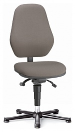 BIMOS - 9154E-9801 - ESD chair BASIC 1 with glider, fabric Duotec black, permanent contact and seat inclination, backrest 530 mm, WL40340