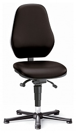 BIMOS - 9154E-2571 - ESD chair BASIC 1 with glider, imitation leather black, permanent contact and seat inclination, backrest 530 mm, WL40344