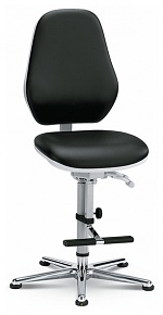 BIMOS - 9146-2571 - Cleanroom work chair Basic 3, with glider and climbing aid, backrest 530 mm - Synchrontechnik, WL33464