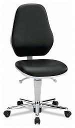 BIMOS - 9145-2571 - Cleanroom work chair Basic 2 with castors, backrest 530 mm - Synchrontechnik, WL33461