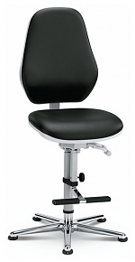 BIMOS - 9143-2571 - ESD Chair Cleanroom Basic 3, with glider and ascent aid, permanent contact, seat inclination, WL33463