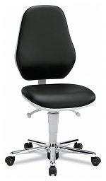 BIMOS - 9142-2571 - ESD Chair Cleanroom Basic 2 with castors, permanent contact, seat inclination, WL33460