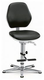 BIMOS - 9141-2571 - ESD Chair Cleanroom Basic 3, with glider and climbing aid, permanent contact, WL33462
