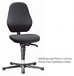 BIMOS - 9130-6801 - Laboratory chair Basic 1 with glider, fabric Duotec black, backrest 430 mm, WL40410