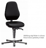 BIMOS - 9130-2571 - Laboratory chair Basic 1 with glider, imitation leather black, backrest 430 mm, WL40414
