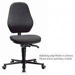 BIMOS - 9133-6801 - Laboratory chair Basic 2 with castors, fabric Duotec black, backrest 430 mm, WL40434