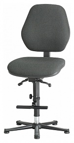 BIMOS - 9131-6801 - Laboratory chair Basic 3, with glider and ascent aid, fabric Duotec black, backrest 430 mm, WL40458