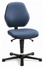 BIMOS - 9130-6902 - Laboratory chair Basic 1 with glider, imitation leather blue, backrest 430 mm, WL40415