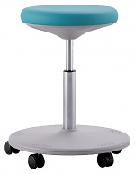 BIMOS - 9107-6914 - Lab stool Labster with rolls, imitation leather mint, WL40400