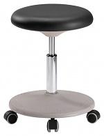 BIMOS - 9107-2000 - Lab stool Labster with castors, integral foam black, WL40402