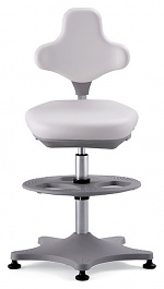 BIMOS - 9101-6907 - Lab chair Labster 3 glider and footring, imitation leather white, WL40393