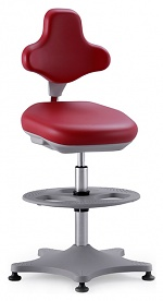BIMOS - 9101-6903 - Lab chair Labster 3 glider and foot ring, imitation leather red, WL40391