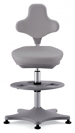 BIMOS - 9101-2002 - Lab chair Labster 3 glider and foot ring, integral foam grey, WL40395