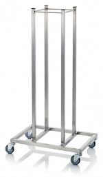 SW RO - Stacking trolley for transport roller Compact, with rollers, 600x410x1180 mm, black, WL37423