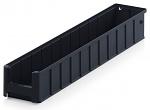ESD RK 6109 - ESD shelf and material flow box, black, 600x117x90 mm, WL44287