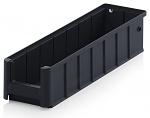 ESD RK 4109 - ESD shelf and material flow box, black, 400x117x90 mm, WL44286