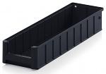 ESD RK 51509 - ESD shelf and material flow box, black, 500x156x90 mm, WL45463