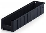 ESD RK 5109 - ESD shelf and material flow box, black, 500x117x90 mm, WL45231