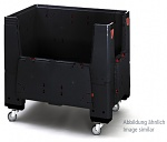 ESD KLK 1208R - Foldable ESD Bigbox with 4 access flaps, with castors, 1200 x 800x 1100 mm, WL36825