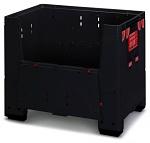 ESD KLK 1208 - Foldable ESD bigbox with 4 access flaps, 1200 x 800x 1100 mm, WL37145