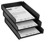 WEZ - 3526.060 - ESD basket DIN A4, 343 x 528 x 53 mm, black, WL25065