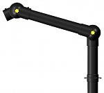 ALSIDENT - 75-35-1-6 - ESD suction arm system DN75 2 joints, 550 mm, black - table mounting, WL32477