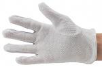51-695-0011 - ESD Handschuh Polyester, mit PVC-Noppen, Reinraumkompatibel, weiß, S, WL28140