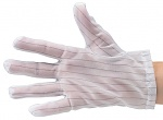 DIVERSE - 51-690-0500 - ESD glove polyester, lint-free, cleanroom compatible, white, without coating, S, WL28131