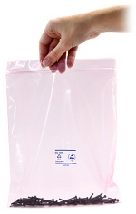 SAFEGUARD - SafeGuard ESD - ESD bag pink conductive, with zip closure, 76 x 127 mm, thickness 0.05 mm, WL25530