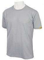 HB SCHUTZBEKLEIDUNG - 08010 86002 000 50 - ESD T-Shirt Men short sleeve, silver grey, XS, WL20341