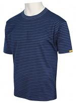 HB SCHUTZBEKLEIDUNG - 08010 86002 000 45 - ESD T-Shirt Men short sleeve, navy, XS, WL27615