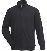 HB SCHUTZBEKLEIDUNG - 08016 86012 005 46 - ESD sweat jacket with zip, black 305 g/m², S, WL36413