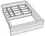 KARL - 96.216.98 - ESD small parts boxes with transport tray, set of 4, plastic, WL32330