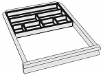 KARL - 96.205.98 - ESD tray for small parts Sintro, 7 compartments, plastic, WL32329