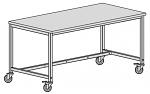 KARL - 30.205.48 - ESD Arbeitstisch Basic, verstellbar, ESD-Hartlaminat, Rollen, blau, 1200x800 mm, WL38804