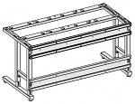 KARL - 29.129.70 - Querverbindung für Tischaufbau Sintro, 930 x 38 x 160 mm, WL38689