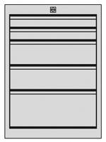 KARL - 28.210.70 - ESD Schubkastenblock FO Sintro, 2x1HE/2x2HE/1x3HE, 583 x 540 x 606 mm, WL35862