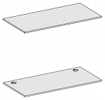 KARL - 25.914.87 - ESD table top Sintro, directly coated, with cut-outs, light grey, 1530 x 750 mm, WL35598