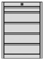 KARL - 12.215.02 - ESD Drawer block FO Quadro, blue, 1x1HE/4x2HE, 583 x 540 x 418 mm, WL34643