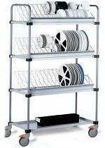 SAFEGUARD - 8100020 - SMD transport trolley, 4 shelves, WL35868