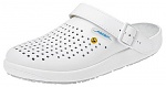 ABEBA - 5300-36 - ESD Clogs white, professional shoe rubber perforated, size 36, WL33991