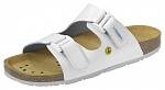 ABEBA - 4080-34 - ESD Sandal white, professional shoes Nature, size 34, WL29827