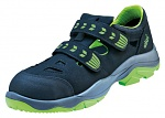 ATLAS - 232-36 - ESD low shoe with velcro closure, Sportline, unisex, black/green, size 36, WL43345