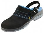 ATLAS - 498-35 - ESD Security Clogs, black/blue 35, WL30535