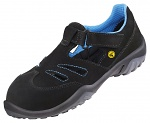 ATLAS - 455-35 - ESD low shoe with velcro fastener, Sportline, women, black/blue, size 35, WL42764