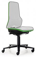 BIMOS - 9573E-9999-3280 - ESD Chair Neon 2 with castors, Flexband green Synchrontechnik, WL29145
