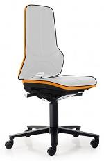 BIMOS - 9573E-9999-3279 - ESD Chair Neon 2 with castors, Flexband orange Synchrontechnik, WL29076