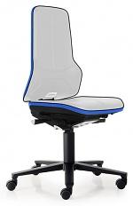 BIMOS - 9573E-9999-3277 - ESD Chair Neon 2 with castors, Flexband blue Synchrontechnik, WL31067